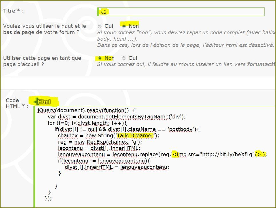 Remplacer automatiquement toutes les expressions par une image et un lien Tdi1-26683b4